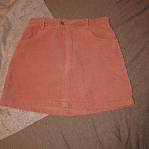 Kendal and Kylie corduroy pink skirt